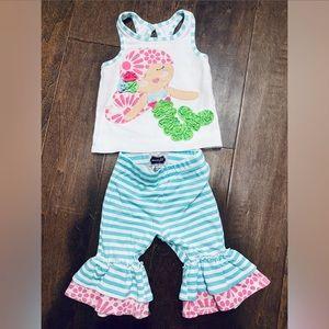 Mudpie Mermaid Outfit 9-12 months